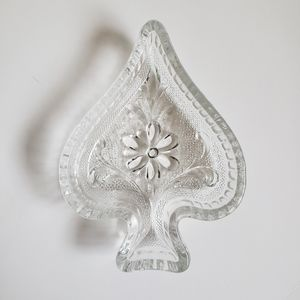 Storage & Organization - Vintage 60s-70s Glass Jewelry Dishes - Poker-Theme